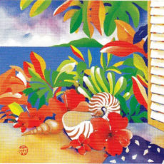 ヘレン・ウィルシャイアー作リトグラフ『Summer Window』サムネイル