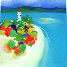 ヘレン・ウィルシャイアー作リトグラフ『Low Isles 岬の灯台』サムネイル