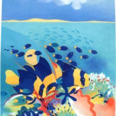 ヘレン・ウィルシャイアー作リトグラフ『Angelfish』サムネイル