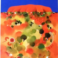 ヘレン・ウィルシャイアー作リトグラフ『Uluru』サムネイル