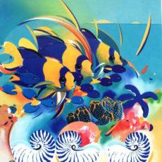 ヘレン・ウィルシャイアー作リトグラフ『Demoiselle and Angelfish』サムネイル