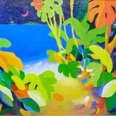 ヘレン・ウィルシャイアー作『Midsummer Night(真夏の夜)』油彩原画 サムネイル