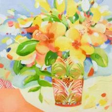 ヘレン・ウィルシャイアー作原画『Yellow Hibiscus』サムネイル
