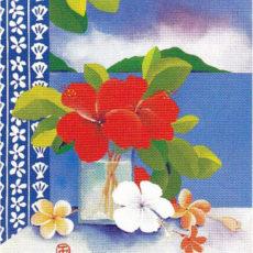 ヘレン・ウィルシャイアー作リトグラフ『Summer Blue』サムネイル