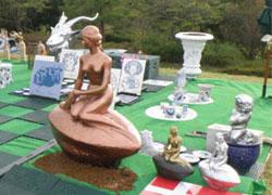 奈良花博のリトルマーメイド像