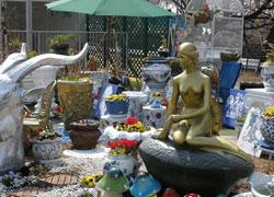 群馬花博のリトルマーメイド像