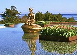ひたち海浜公園のリトルマーメイド像